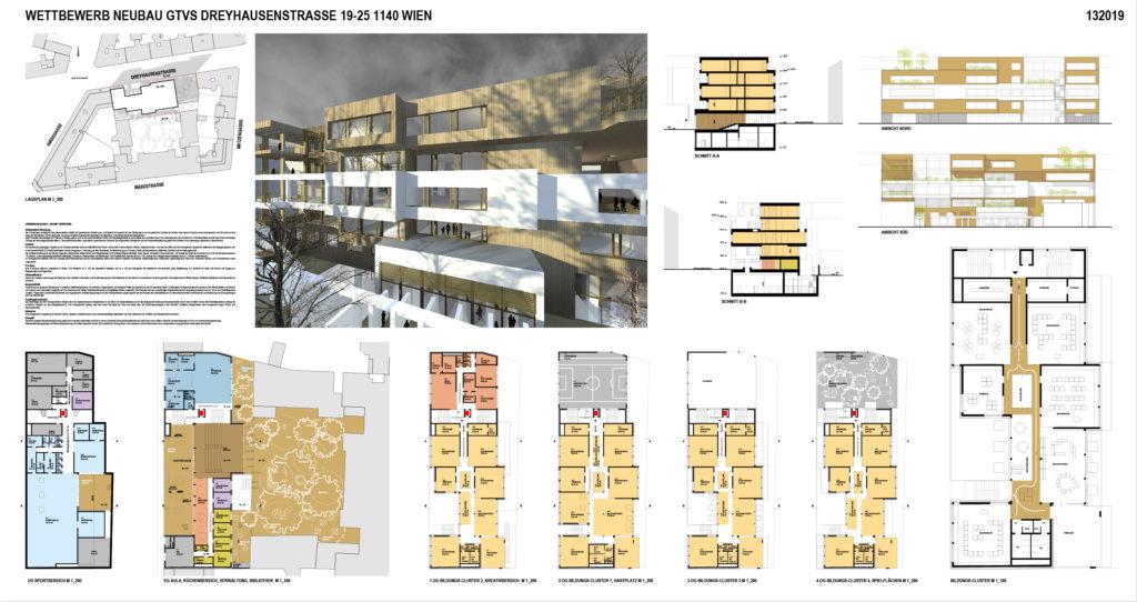 Wettbewerb Neubau GTVS Dreyhausenstrasse Wien