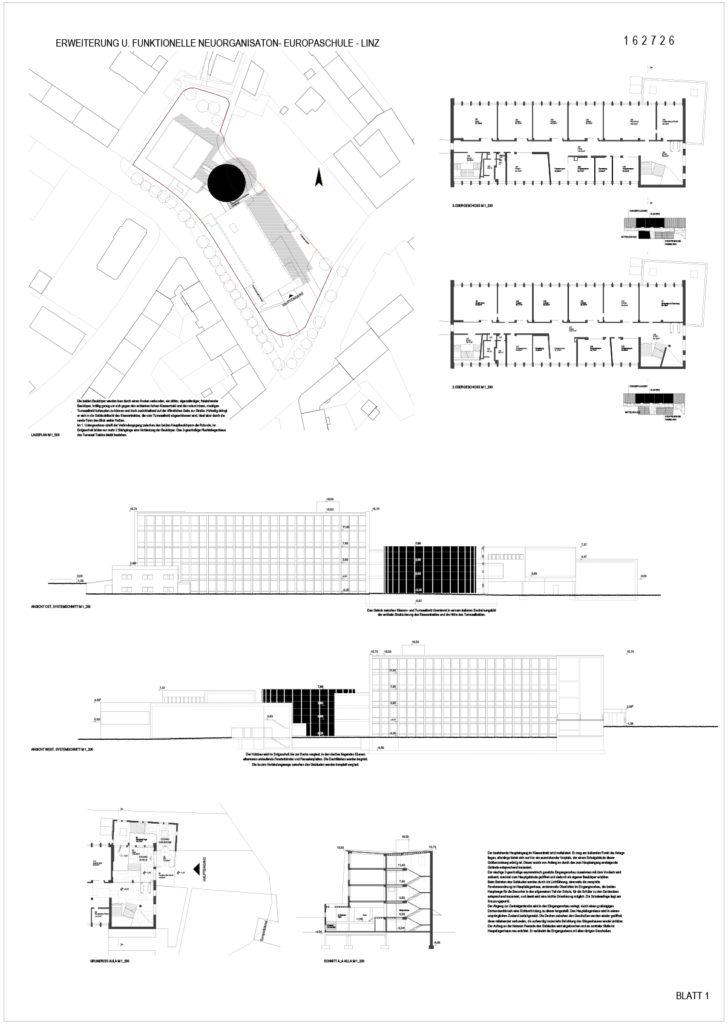 Erweiterung u. Funktionlle Neuorganisation – Europaschule – Linz