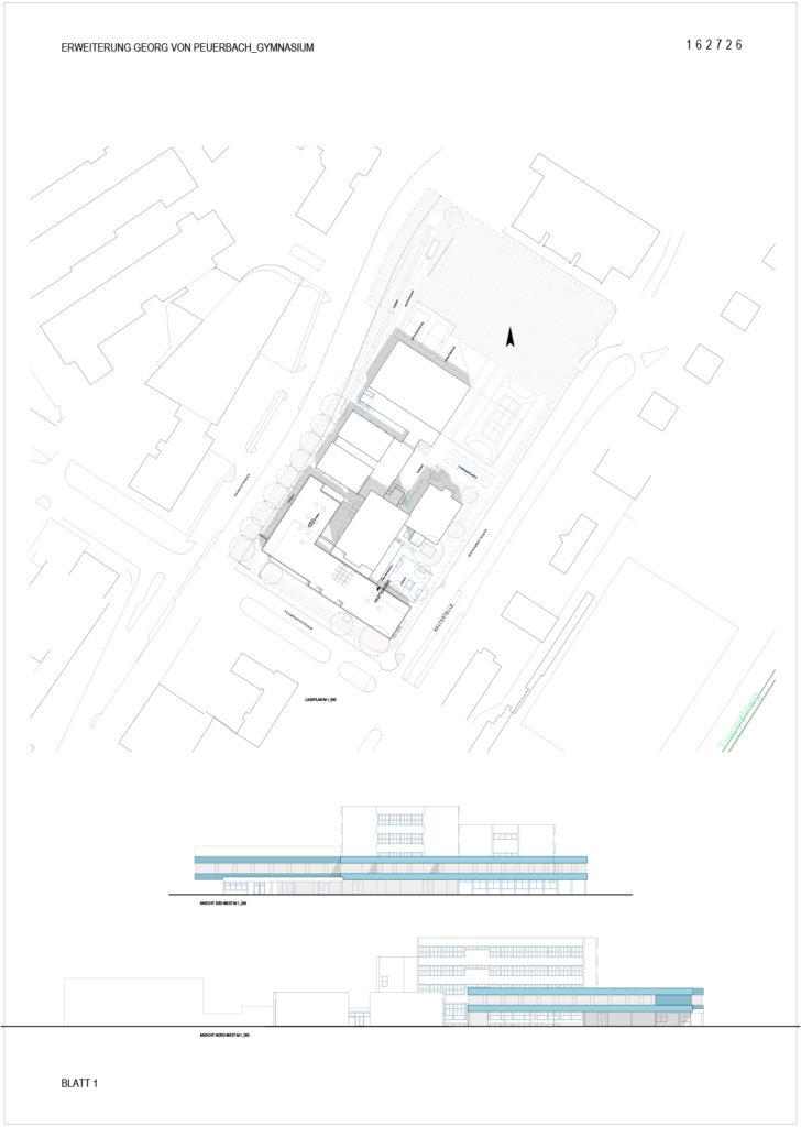 Erweiterung Georg von Peuerbach – Gymnasium